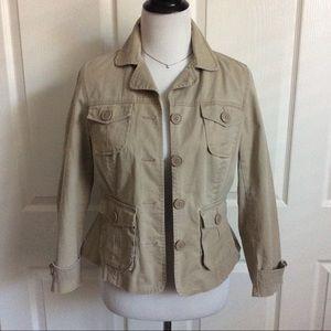Stretch Cotton Utility Jacket